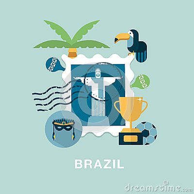 brazil-illustration-stamp-cristo-redentor-other-related-items-41450274